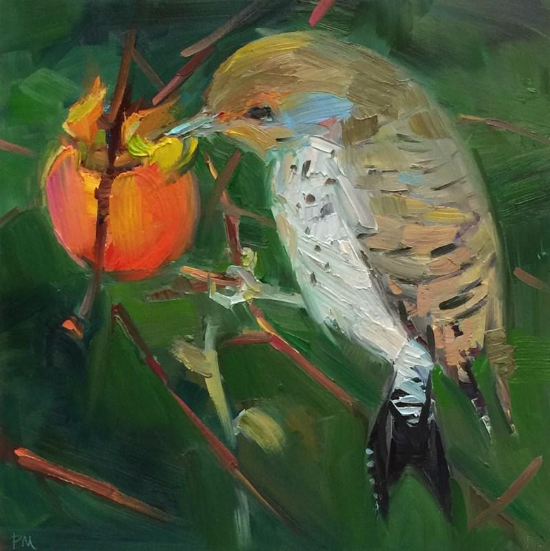 """""""Flicker Fast Food"""" original fine art by Patti McNutt"""
