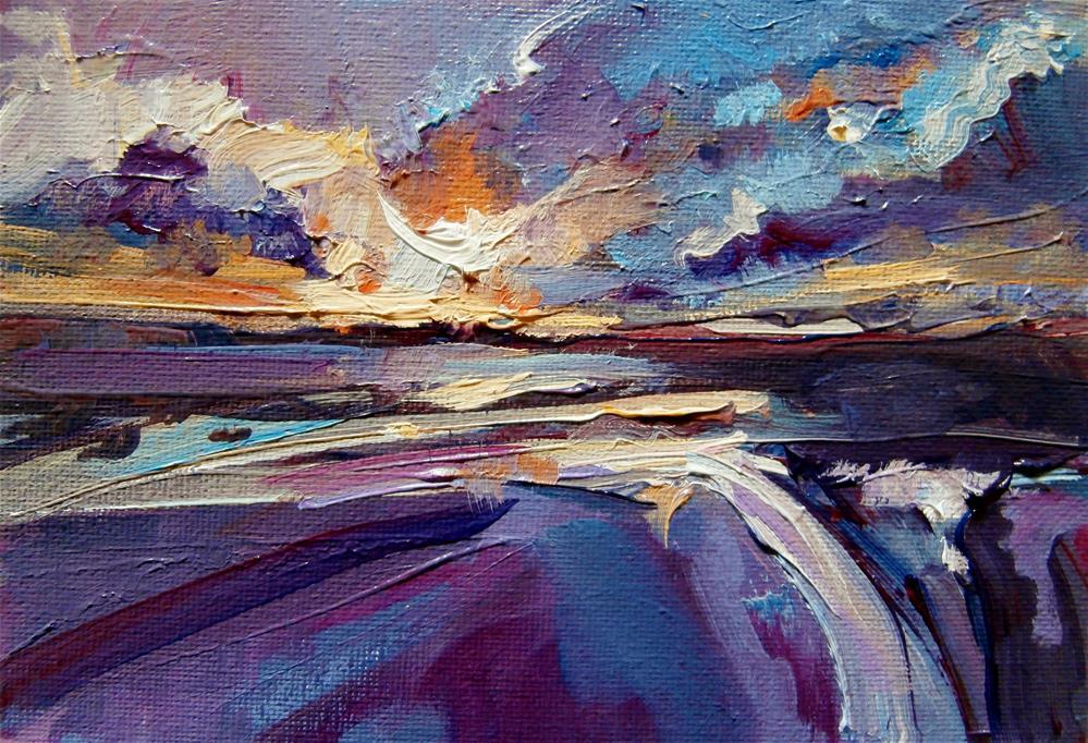 """Purple Rain"" original fine art by Anne Wood"