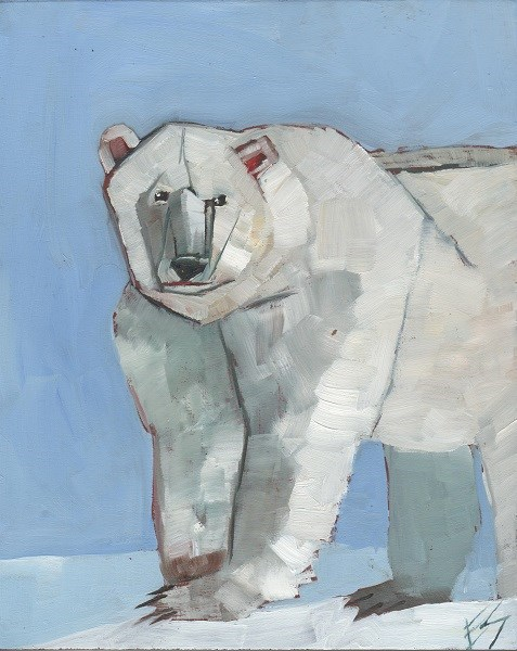 """Polar Bear"" original fine art by Elizabeth See"