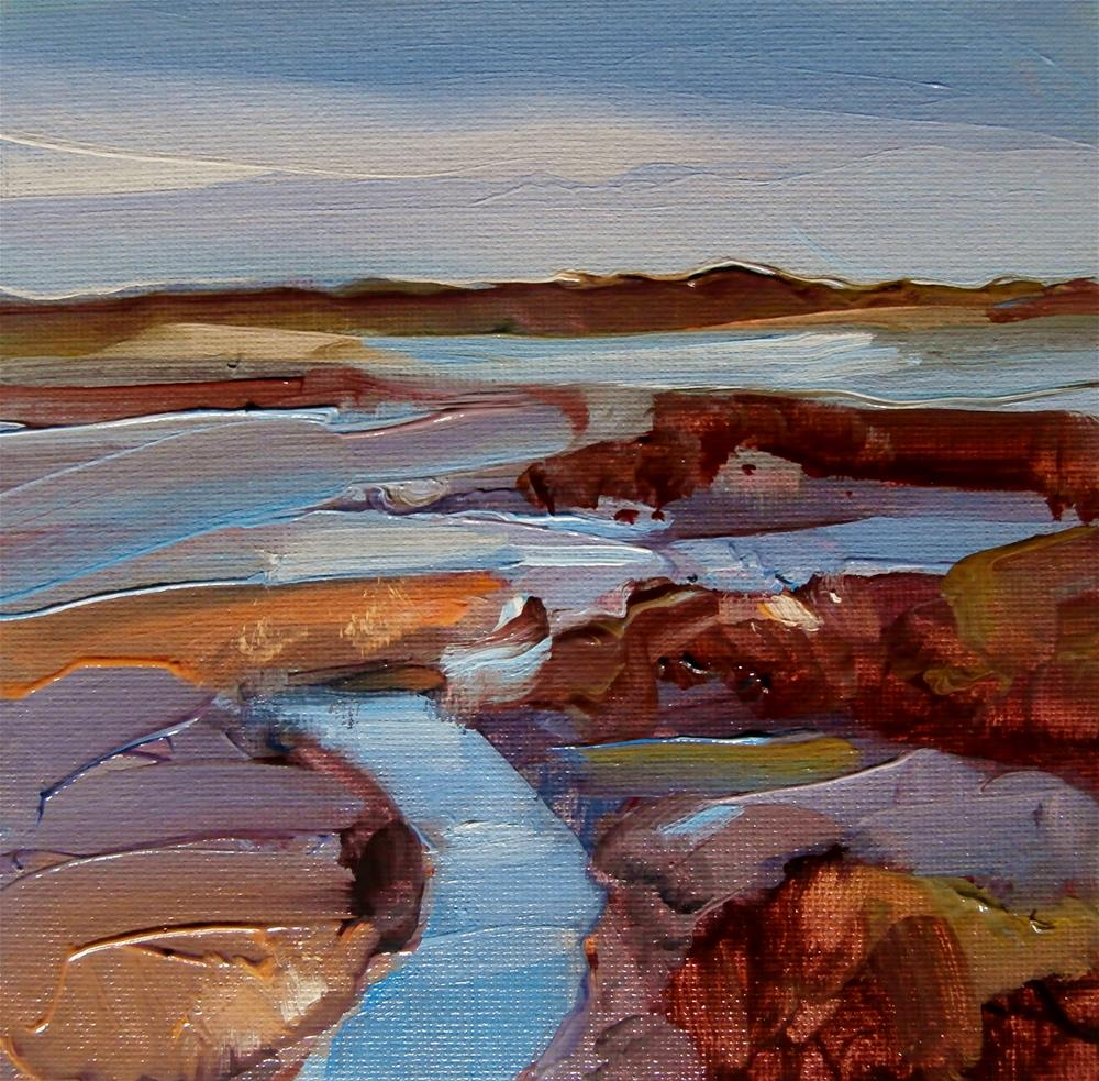 """Thornham Pools"" original fine art by Anne Wood"