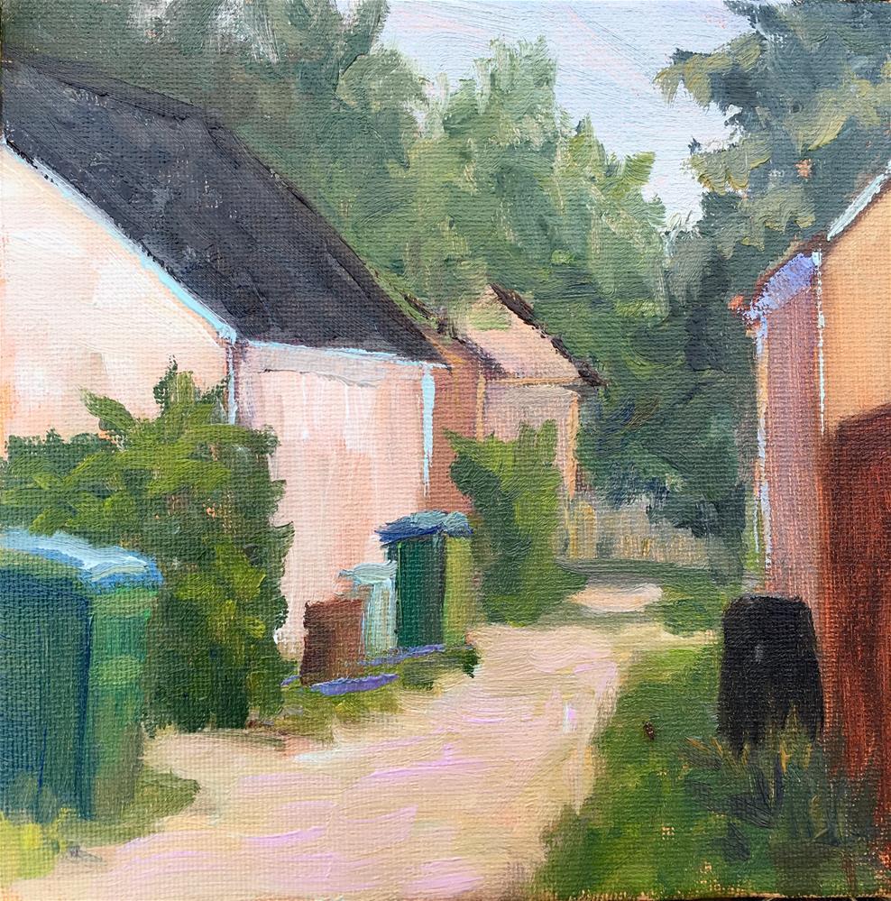 """""""The Alleyway"""" original fine art by Judith Anderson"""