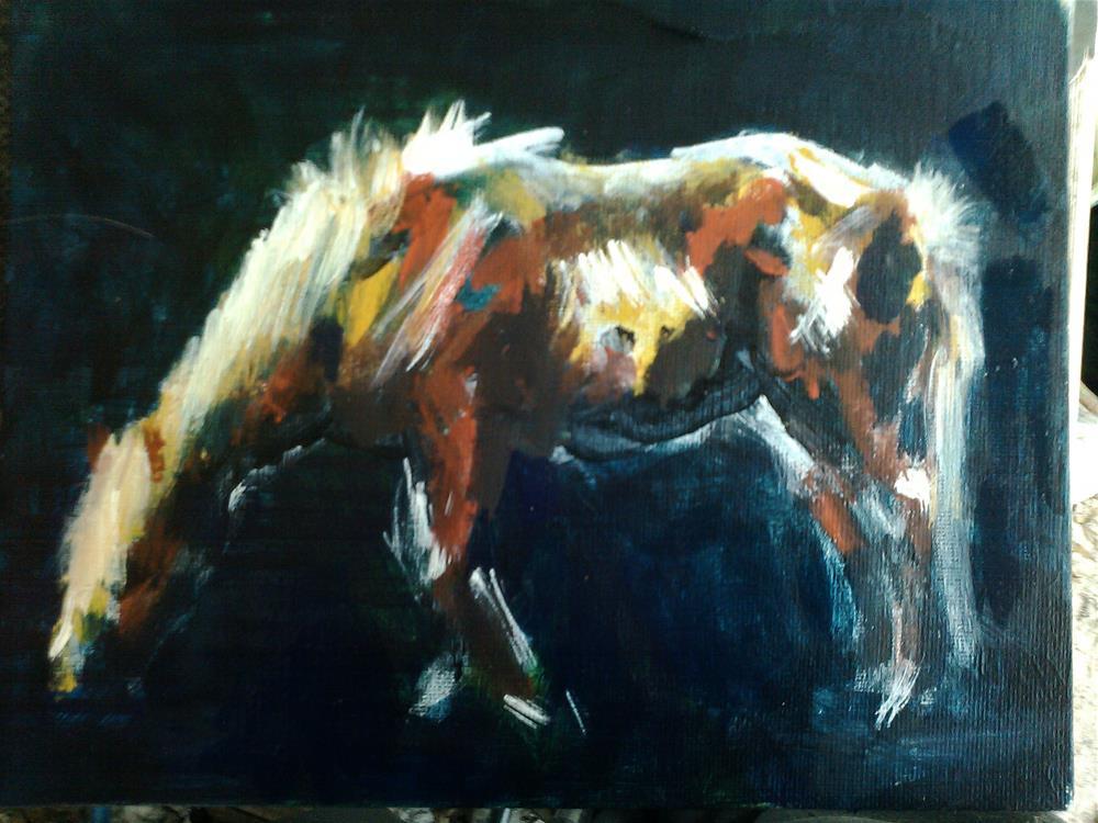 """Cincoteague Pony"" original fine art by Kate Less-Madsen"