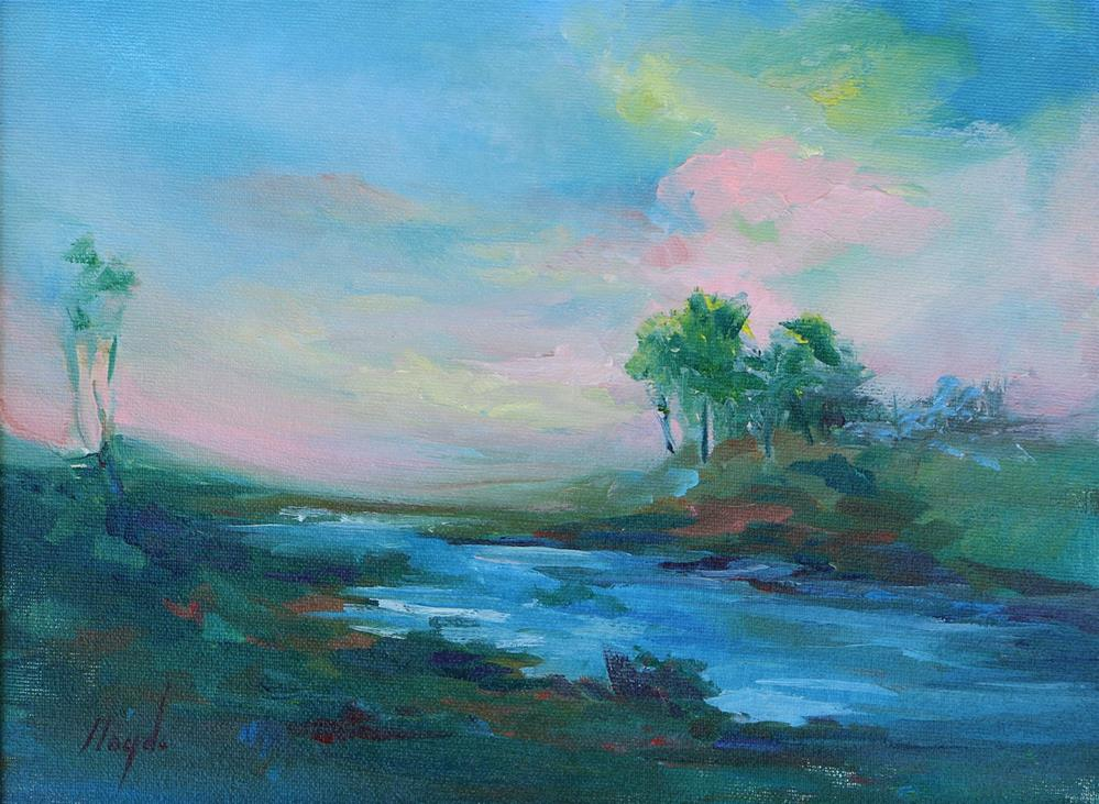 """Pink Sky"" original fine art by Diane Lloyd"