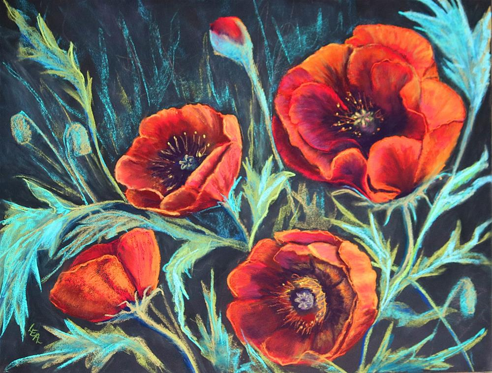 """Poppy Garden"" original fine art by Anna Lisa Leal"