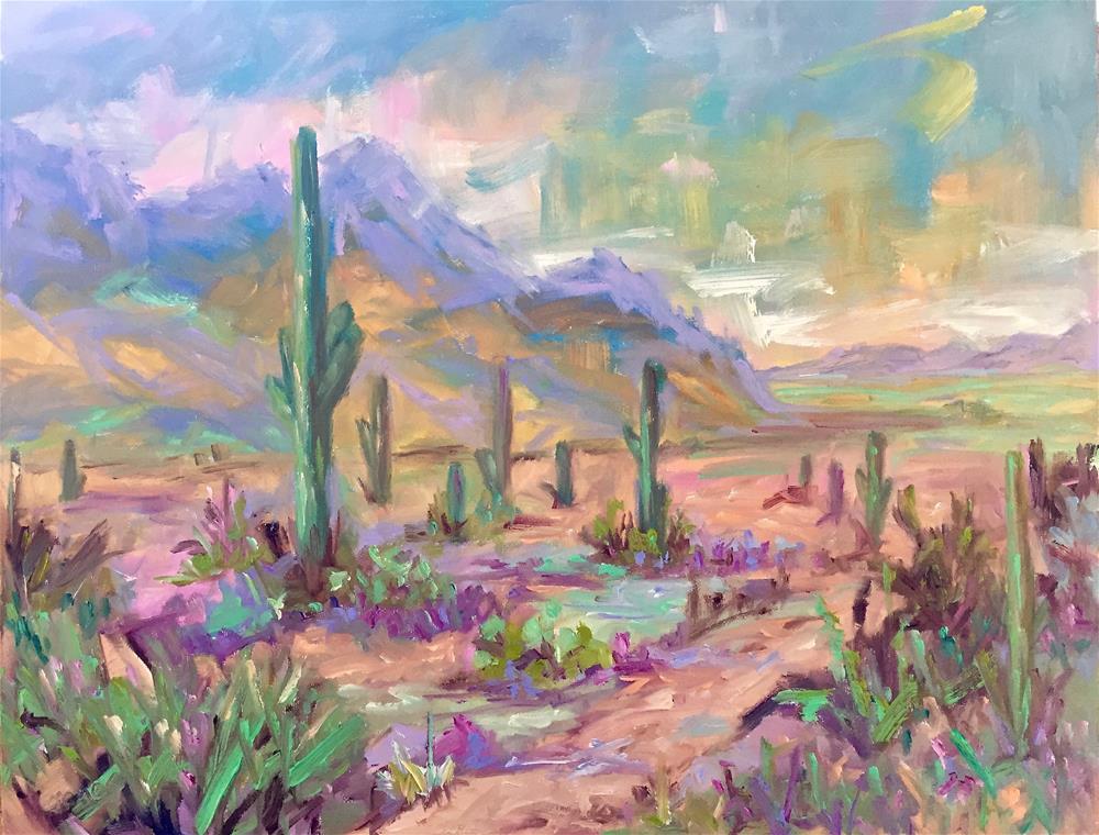 """""""Catalina State Park, AZ"""" original fine art by Liz Zornes"""
