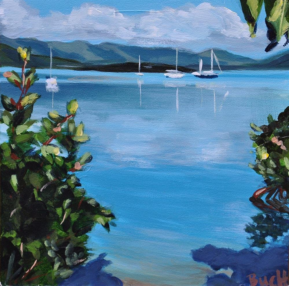 """""""Secret Beach"""" original fine art by Shari Buelt"""