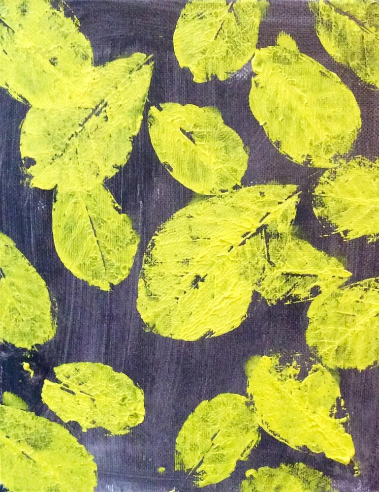 """Leaf print #3"" original fine art by Lori Jacobs - Farist"
