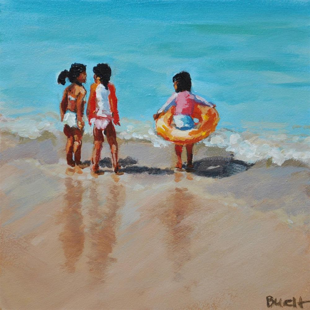 """Waikiki Beach Girls"" original fine art by Shari Buelt"