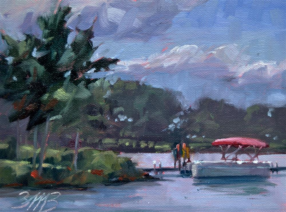 """A Day on the Lake"" original fine art by Brienne M Brown"
