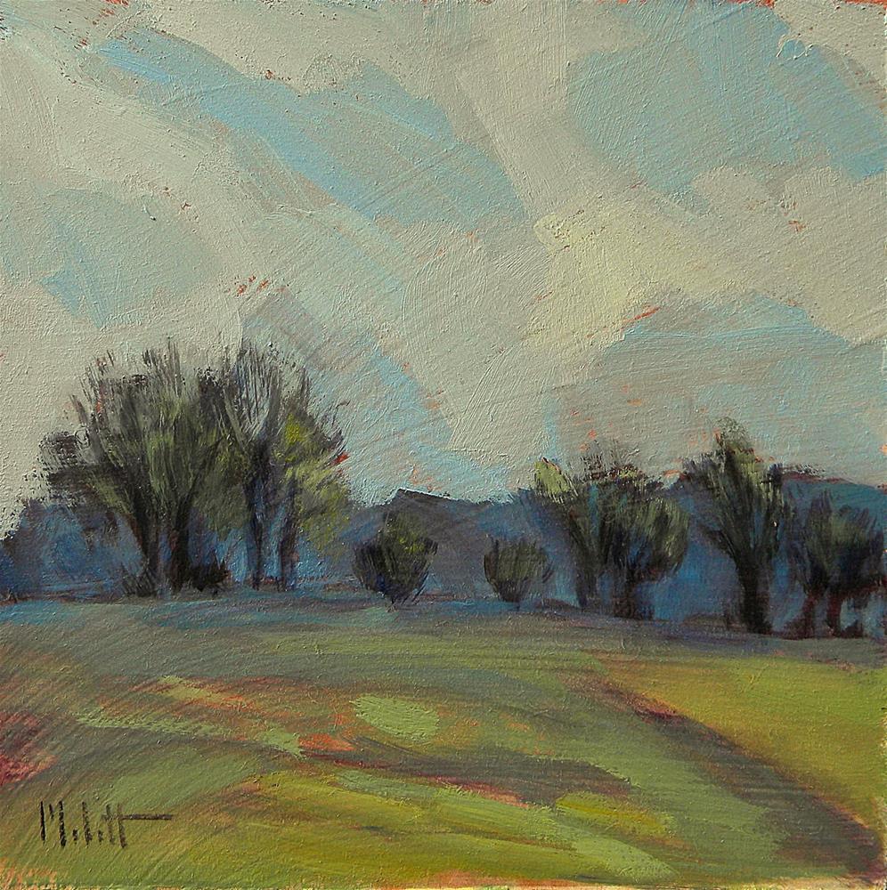 """Spring Landscape Contemporary Impressionism"" original fine art by Heidi Malott"