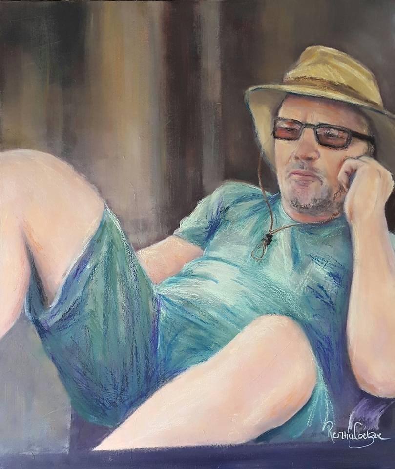 """Boss man"" original fine art by Rentia Coetzee"
