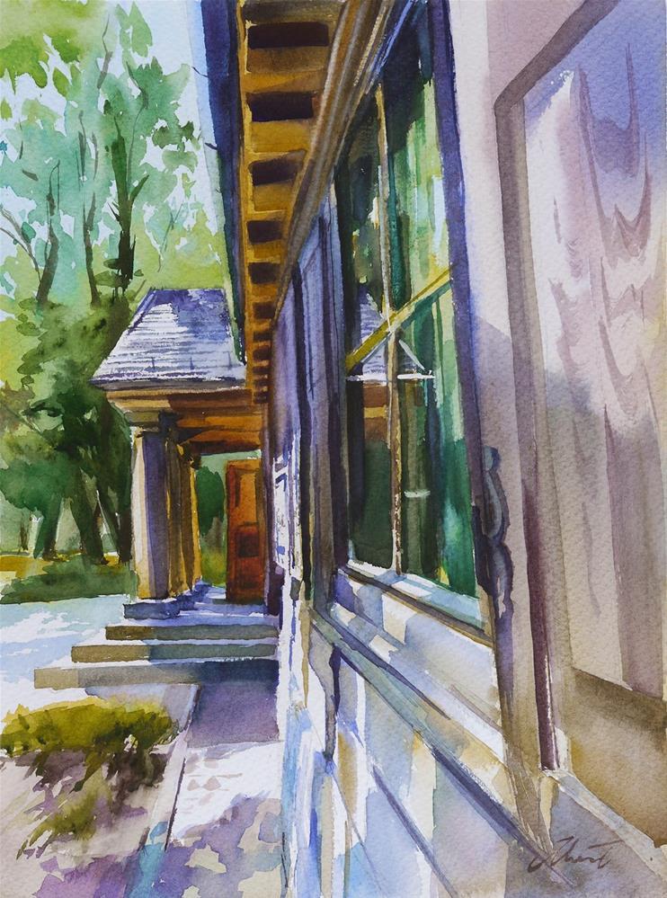 """wooden mansion2"" original fine art by Beata Musial-Tomaszewska"