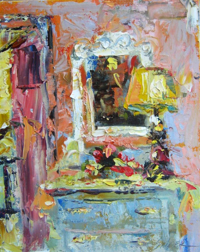 """Cottage Dresser, Nimrod Hall, Virginia"" original fine art by Connie Snipes"