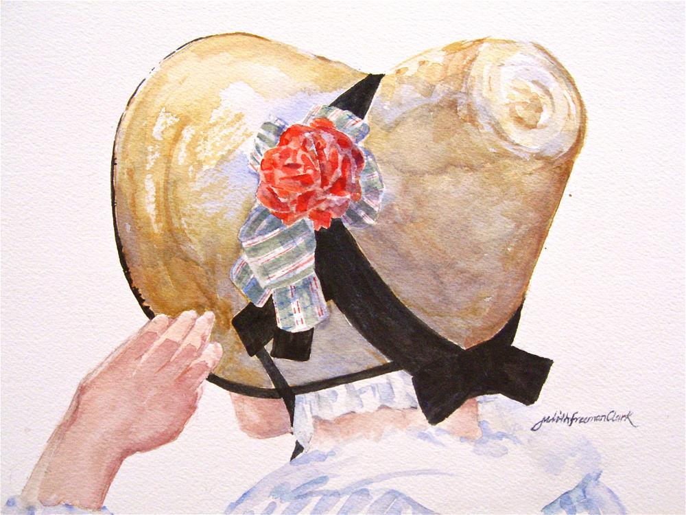 """""""New Bonnet"""" original fine art by Judith Freeman Clark"""