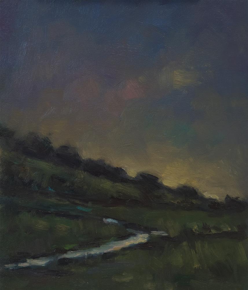 """Stream and Hill"" original fine art by Andre Pallat"