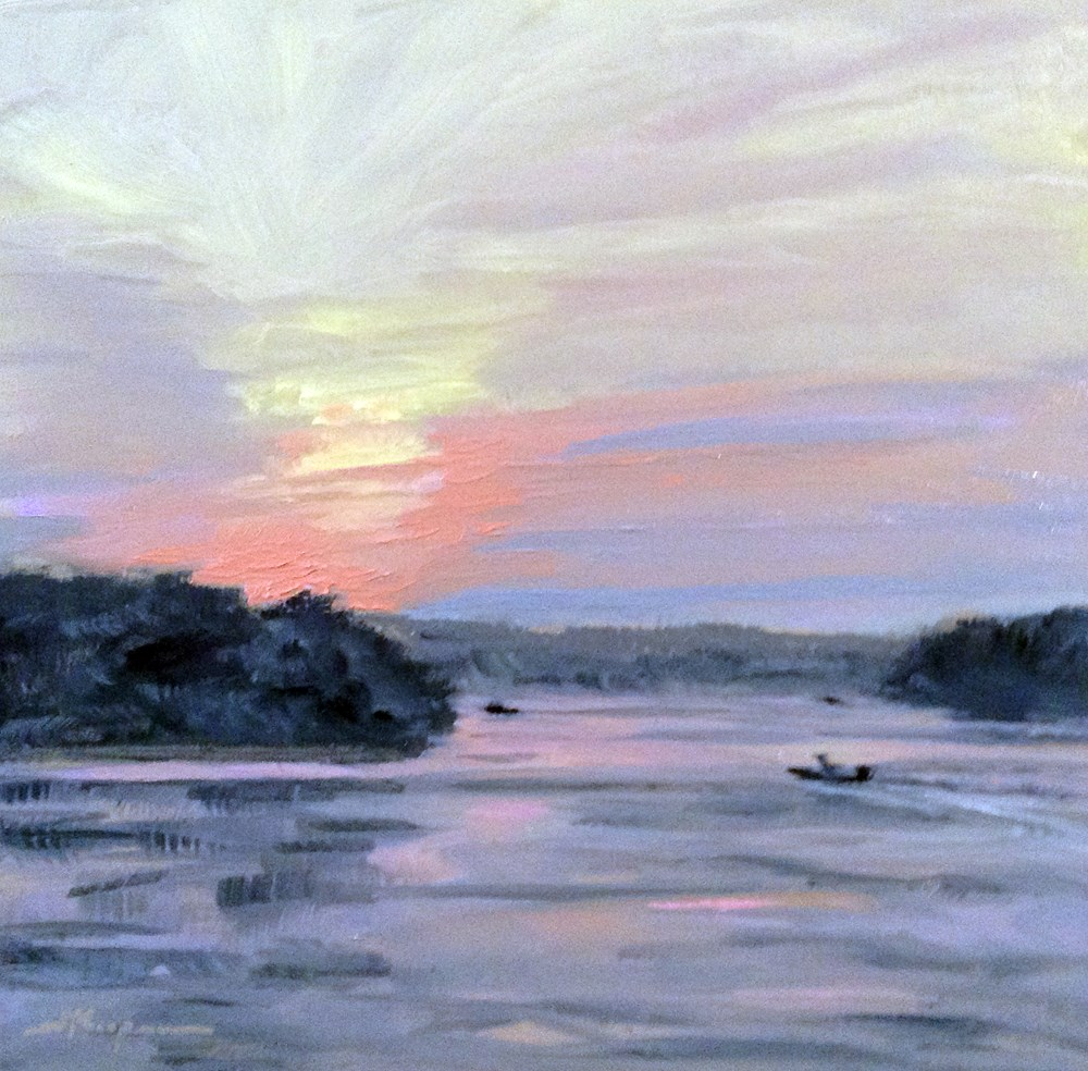 """Smith Mountain Lake Evening"" original fine art by Shelley Koopmann"