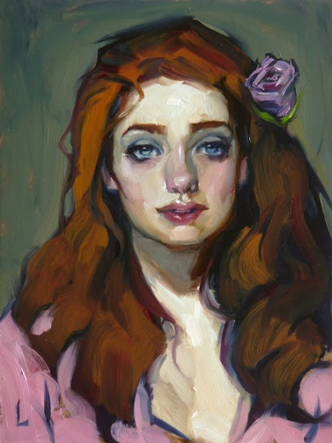 """Purple Rose"" original fine art by John Larriva"
