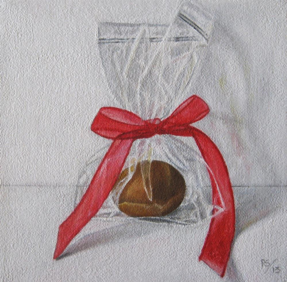 """""""Another Red Ribbon"""" original fine art by Pera Schillings"""