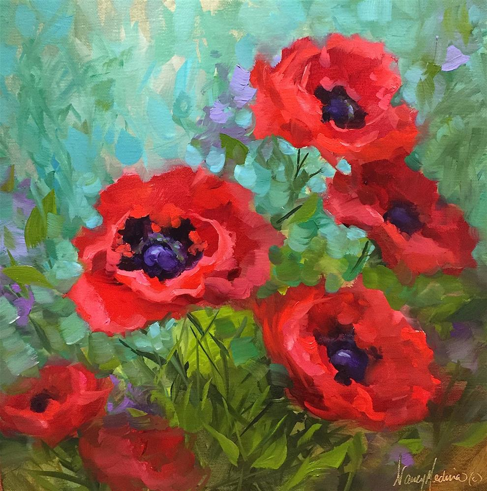 """Scarlet Symphony Poppies and Escape to Italy - Nancy Medina Art"" original fine art by Nancy Medina"