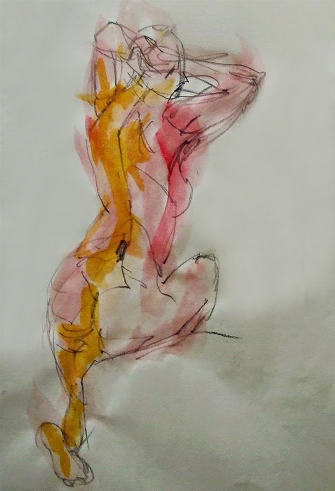 """""""Aoct014"""" original fine art by Mitsuru Cope"""