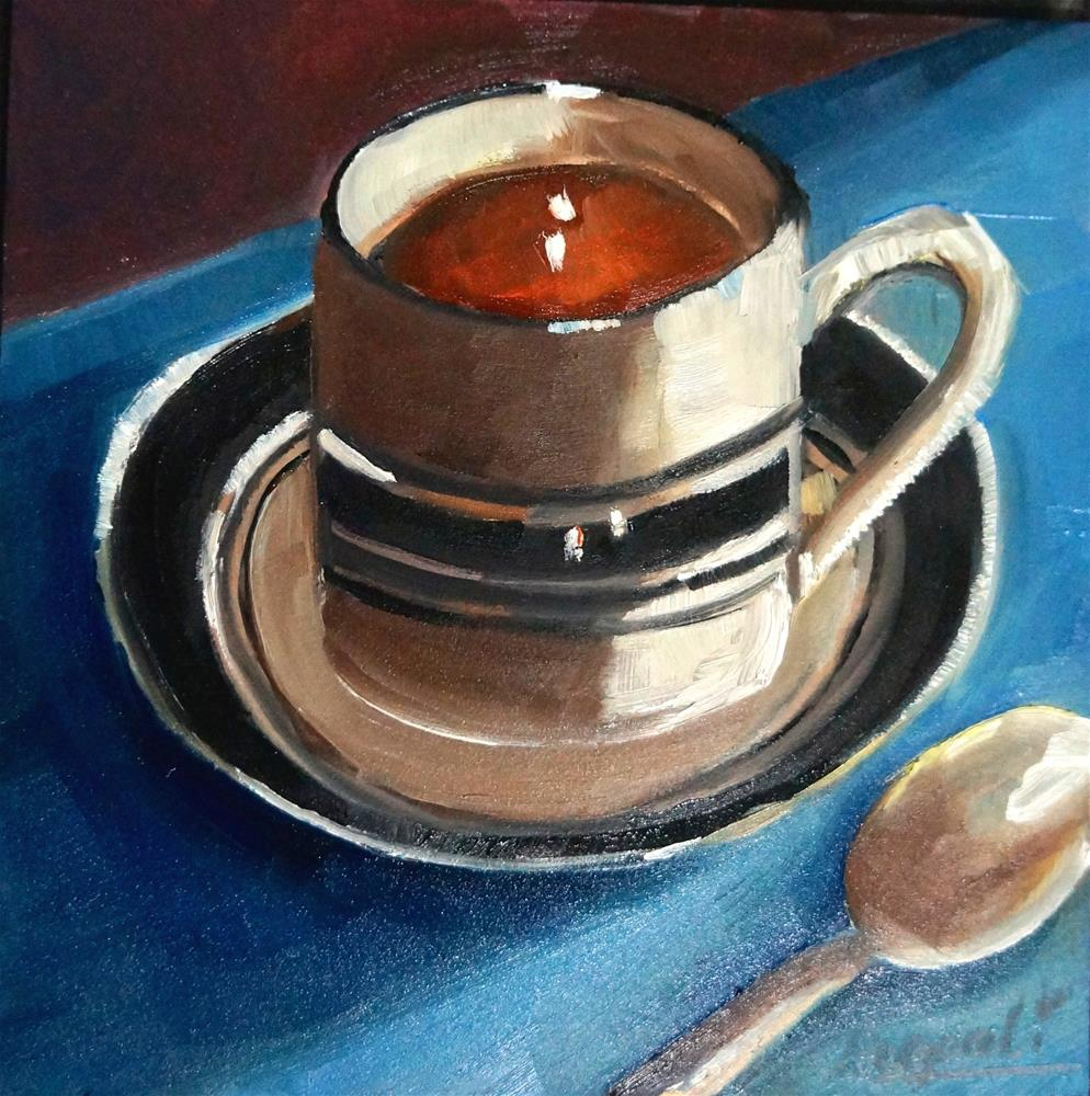 """Cup with Spoon"" original fine art by Dipali Rabadiya"