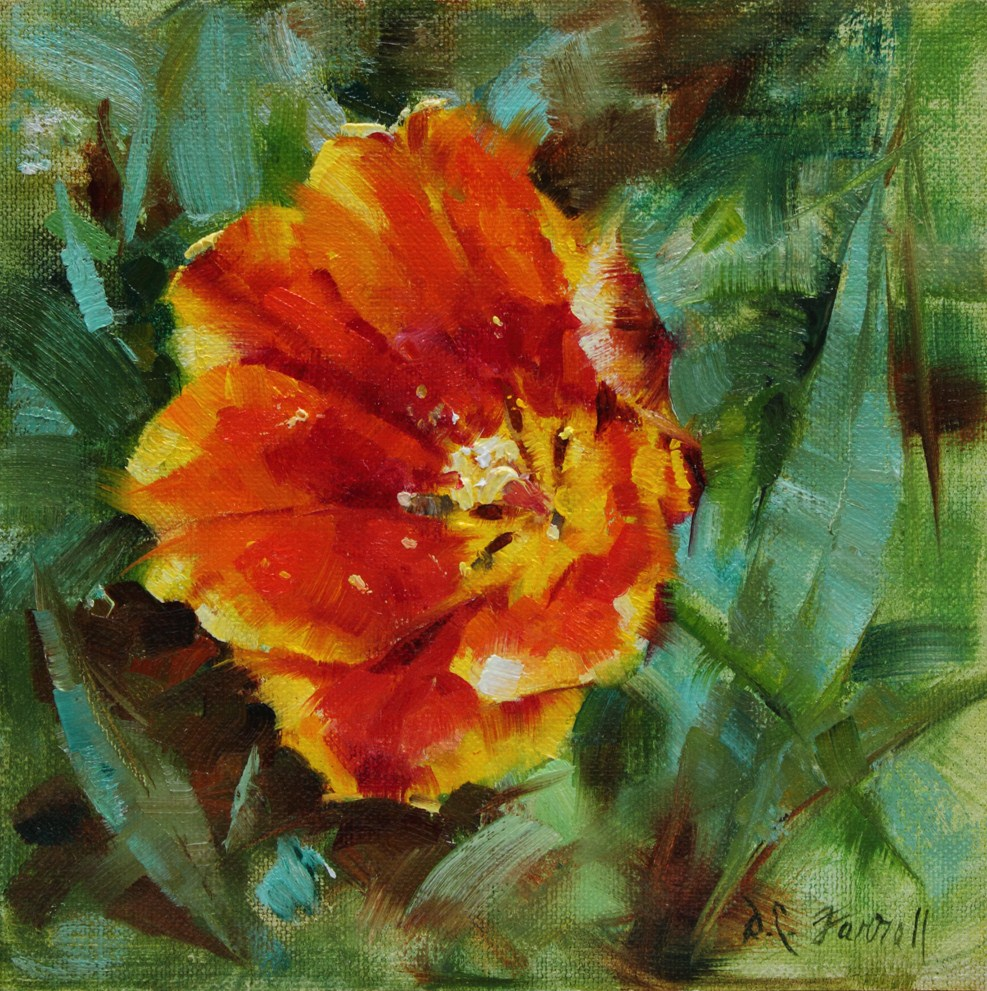 """Spring Fire"" original fine art by Donna C Farrell"