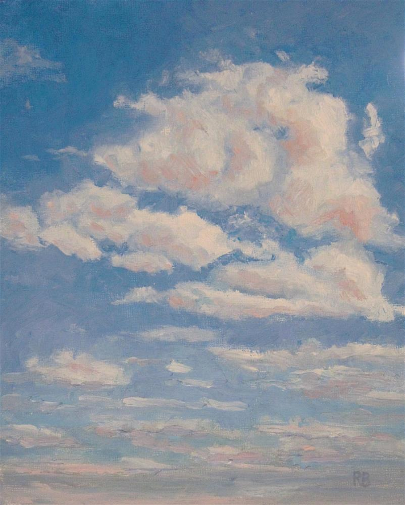 """Clouds on Blue"" original fine art by Robie Benve"