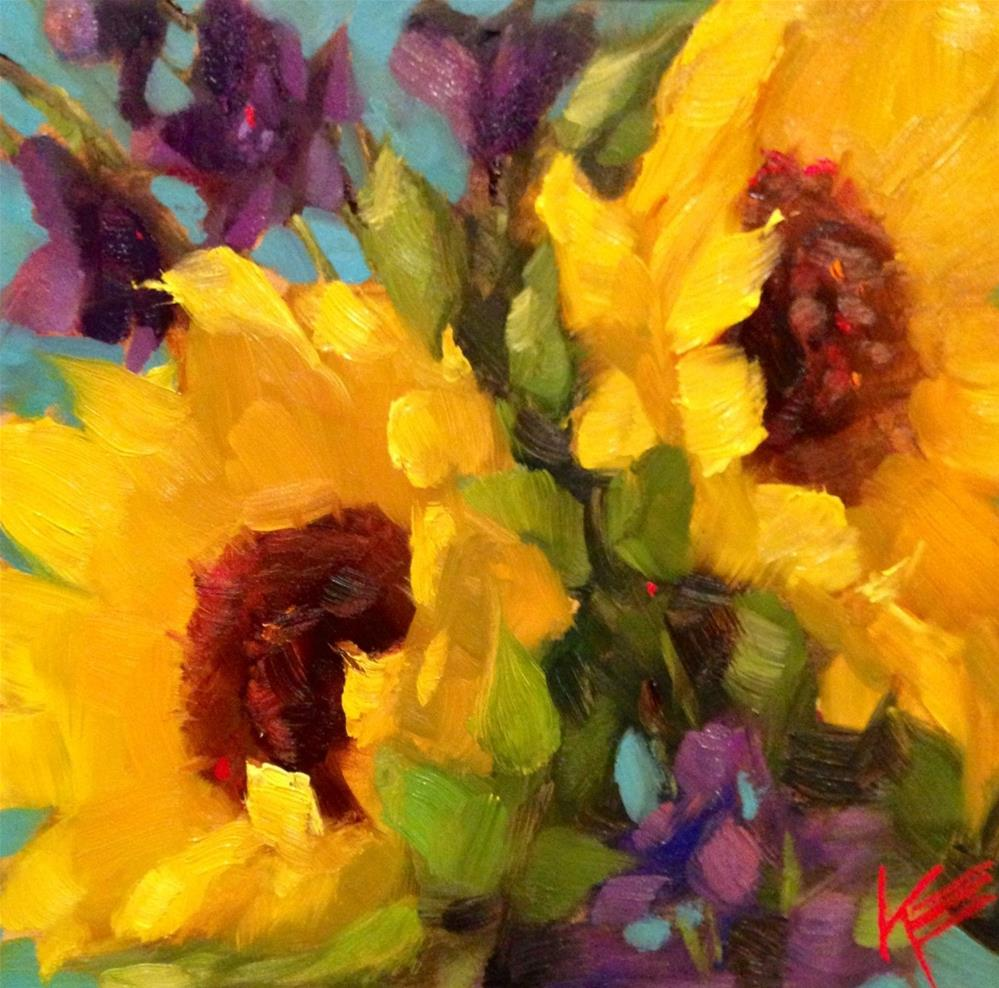 """Sunshine All Around"" original fine art by Krista Eaton"
