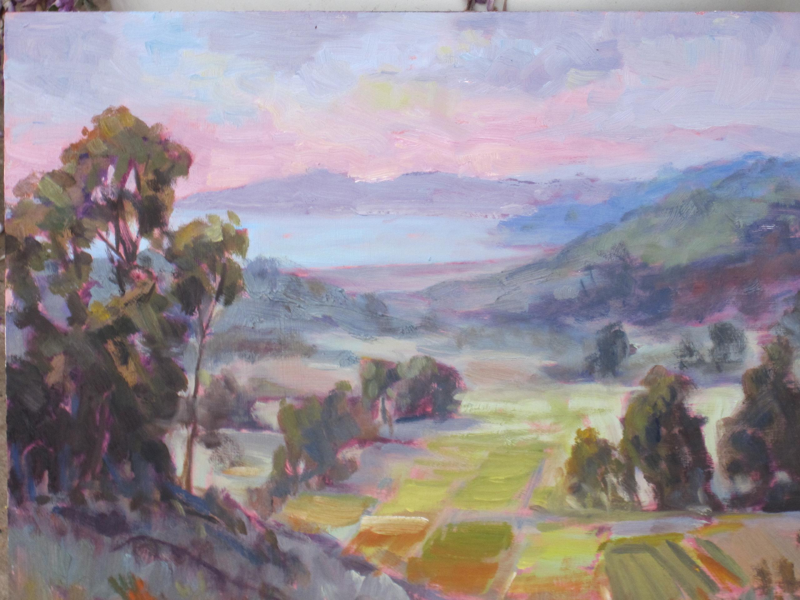"""""""Valley below"""" original fine art by Leigh Alexandra Sparks"""