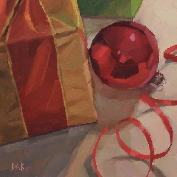 """""""Merry Little Christmas"""" original fine art by Deborah Ann Kirkeeide"""