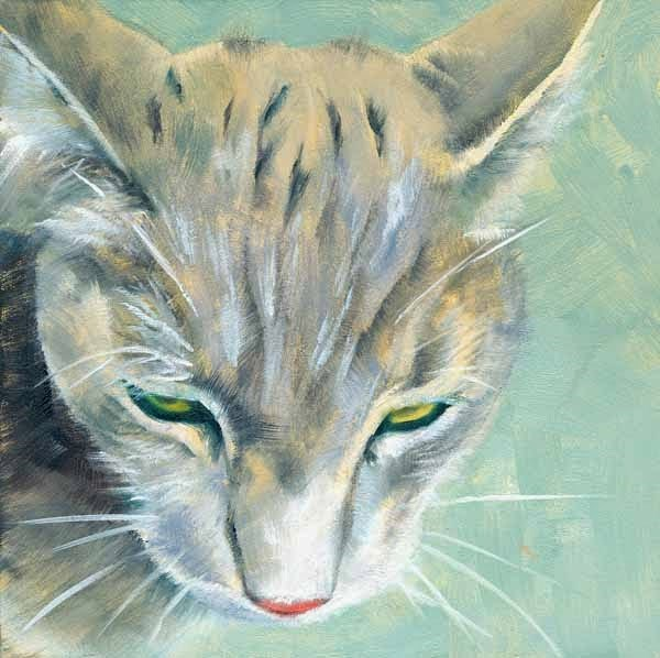 """Whiskered"" original fine art by Brenda Ferguson"