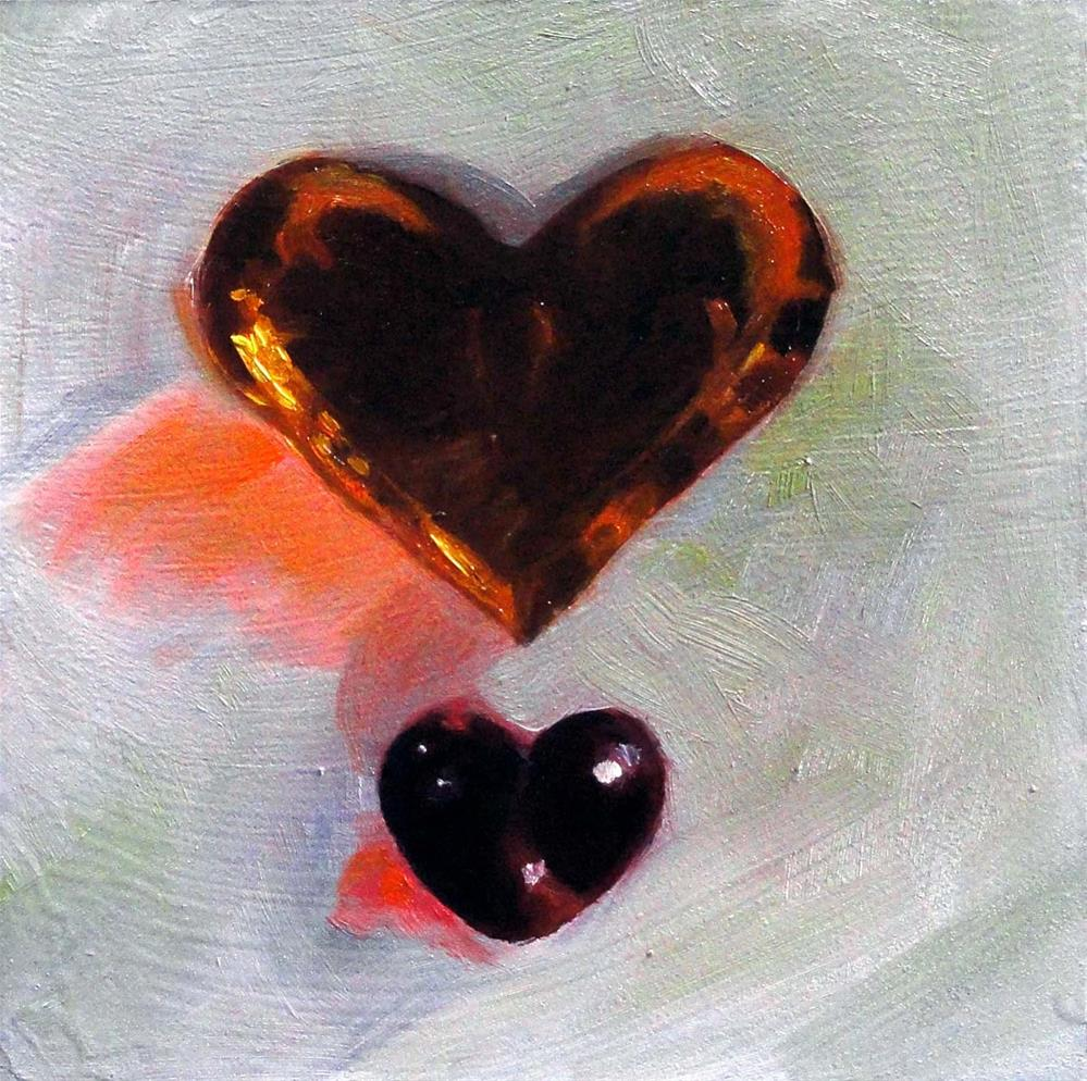 """Glowing Hearts"" original fine art by Cietha Wilson"