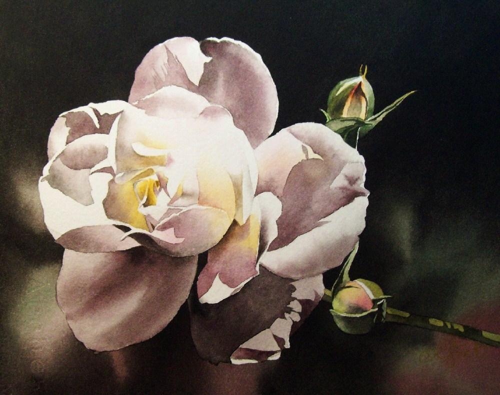 """Victorian Rose"" original fine art by Jacqueline Gnott, whs"