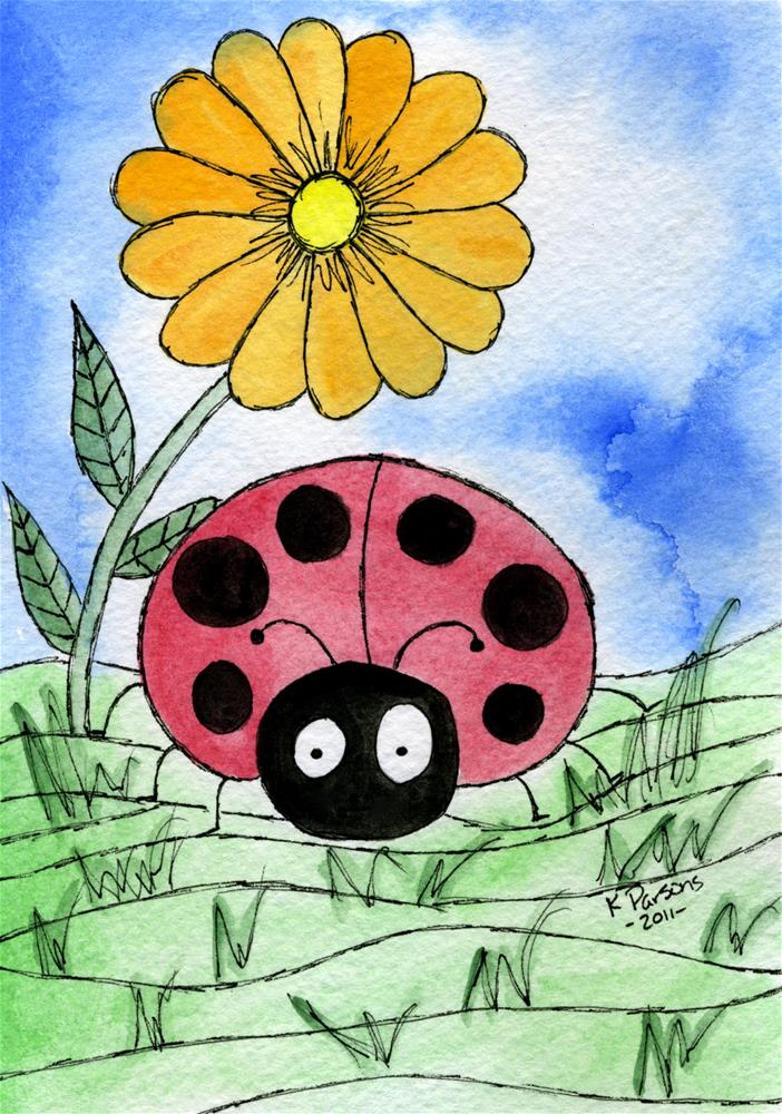 """Ladybug's Looking!"" original fine art by Kali Parsons"