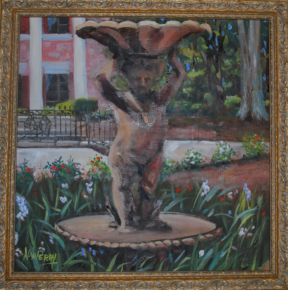 """Little Yard Man"" original fine art by Nan Perry"