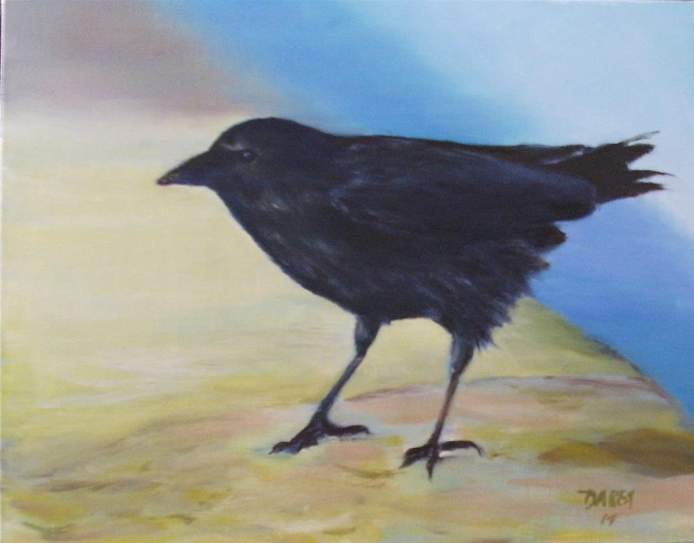 """Pretty Crow"" original fine art by Lynn Darby"