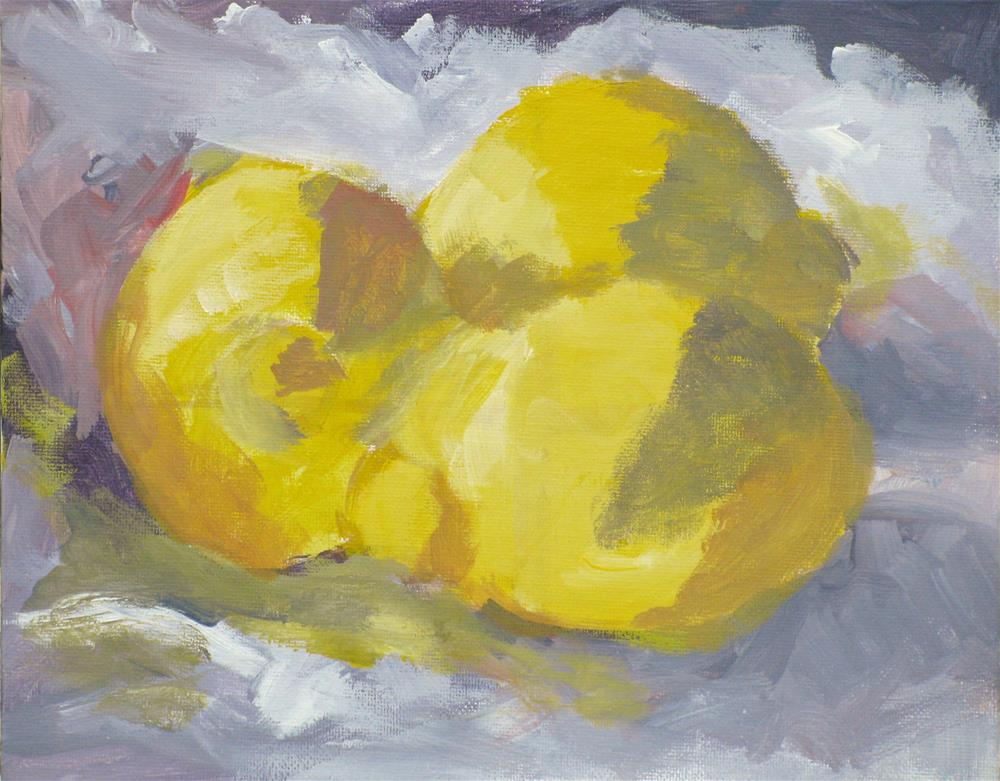 """Study of Lemons in the Hensche-Hawthorne style"" original fine art by Susan Elizabeth Jones"