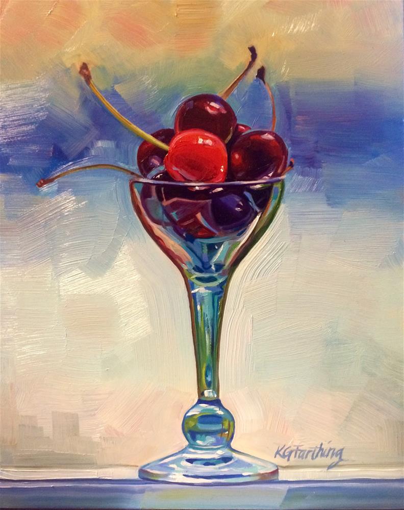 """Cherry-O"" original fine art by Kathleen Gray Farthing"