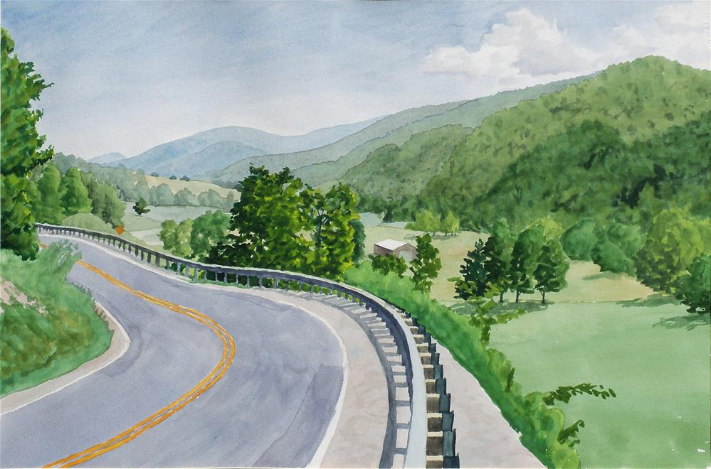 """U.S. 220 near Franklin"" original fine art by Greg Arens"