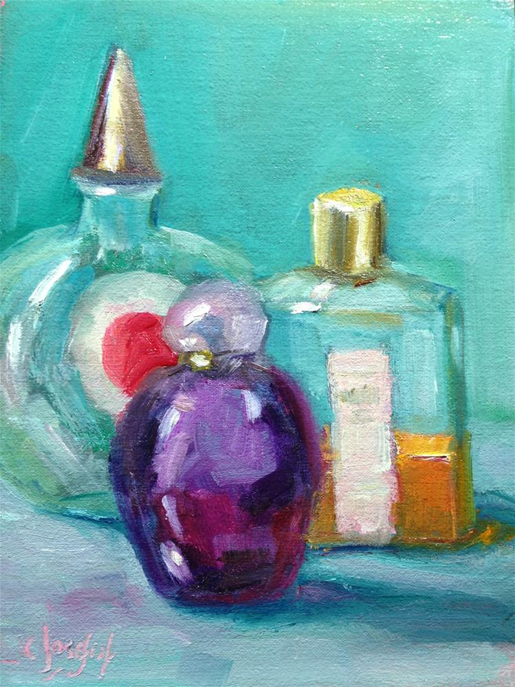 """Perfume bottles"" original fine art by Carol Josefiak"
