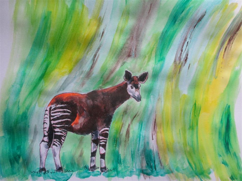 """Okapi"" original fine art by Kate Less-Madsen"