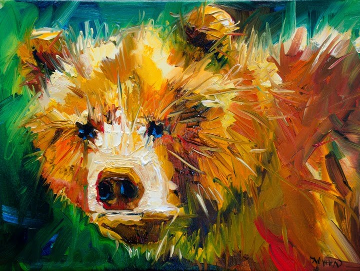 """ARTOUTWEST BEAR ART ANIMAL WILDLIFE OIL PAINTING by Artist Diane Whitehead"" original fine art by Diane Whitehead"
