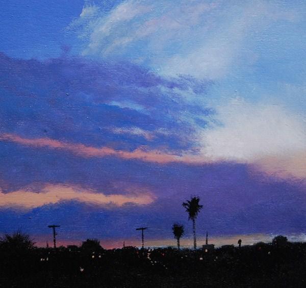 """CALIFORNIA EVENING"" original fine art by Gerald Schwartz"
