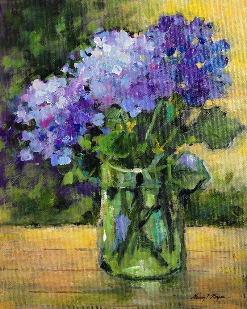 """Lisa's Hydrandeas"" original fine art by Nancy F. Morgan"