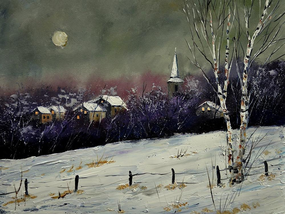 """winter 452121"" original fine art by Pol Ledent"