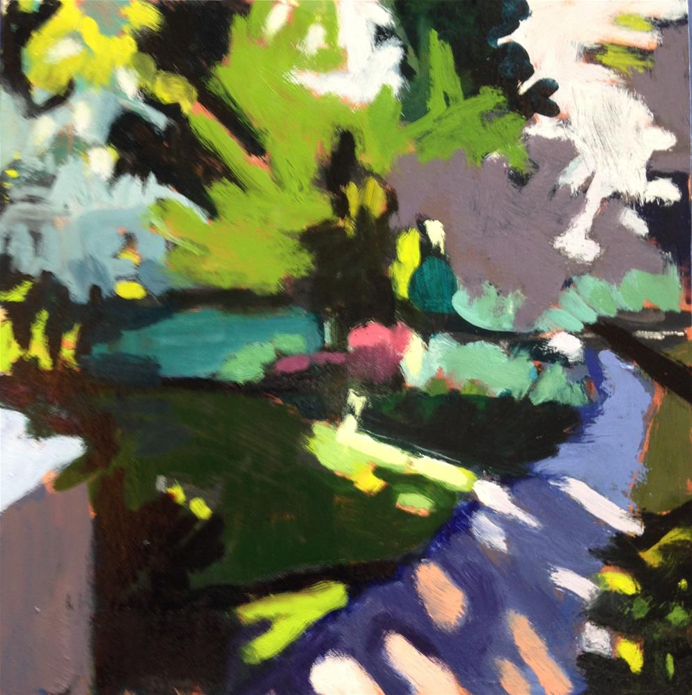 """Hilary's Garden/Oregon Morning"" original fine art by Pamela Hoffmeister"