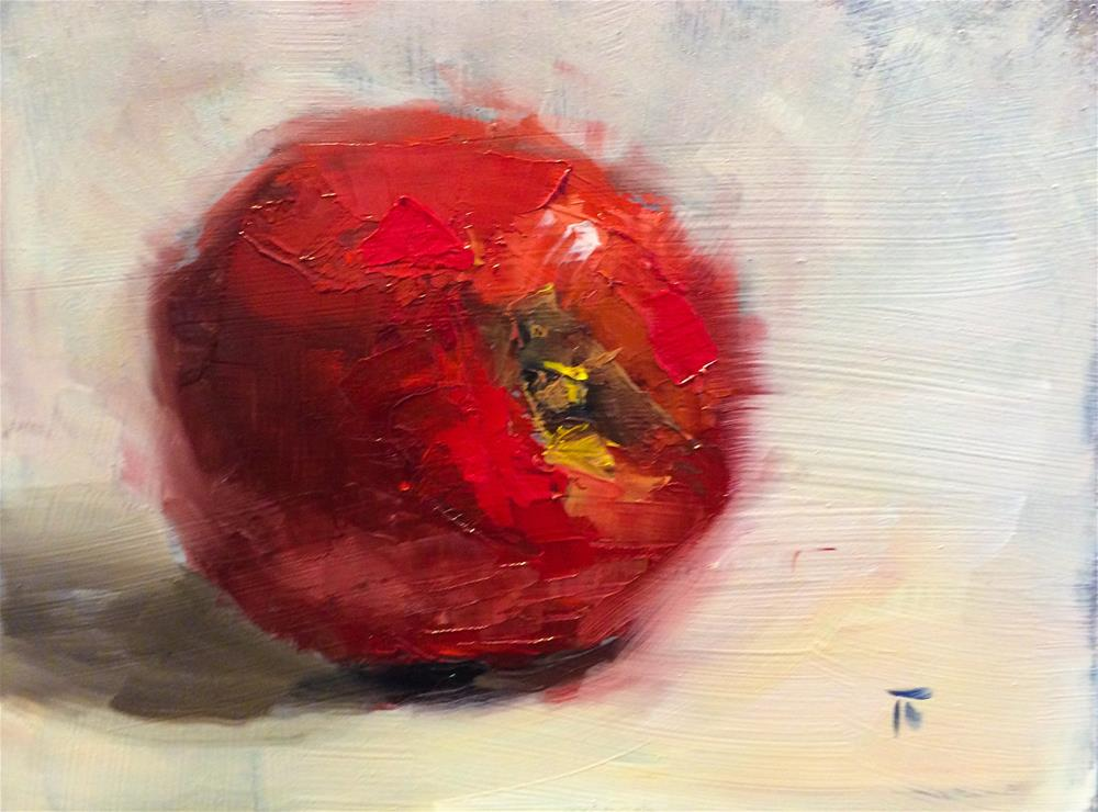 """A&B series: 9. Paintknifed red"" original fine art by Thomas Ruckstuhl"
