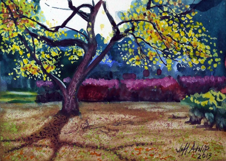 """My Neighbor's Tree"" original fine art by Jeff Atnip"