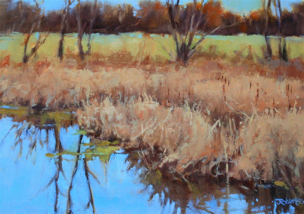 """Fall Marshland in the County"" original fine art by Jane Robertson"