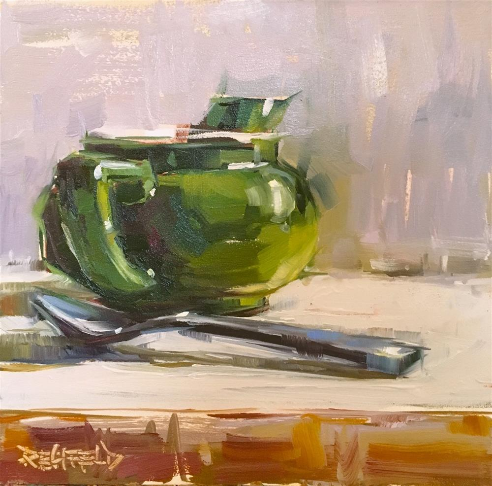 """Hot Tea on a Cold Winter Day"" original fine art by Cathleen Rehfeld"